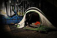 Há cada vez mais pessoas a viver em tendas em Lisboa