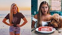 'Influenciadora' vegan sente-se mais saudável com dieta carnívora
