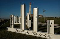 'Escultura' vandalizada com preço que custou aos contribuintes