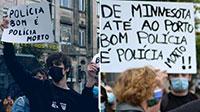 """Manifestantes """"contra o racismo"""" apelam ao assassinato de polícias"""
