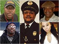 Os americanos negros mortos nos motins Black Lives Matter